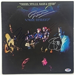 "Crosby, Stills, Nash & Young Group Signed ""4 Way Street"" Album w/ 4 Signatures! (PSA/DNA)"