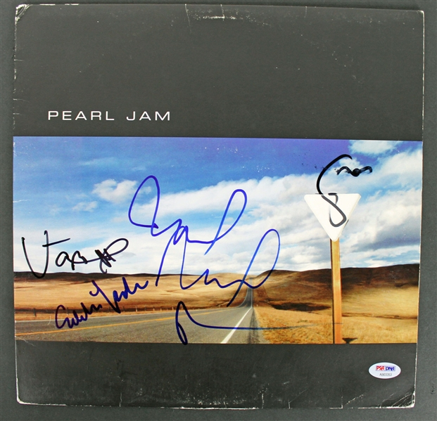 Lot Detail Pearl Jam 5 Vedder Mccready Irons Ament