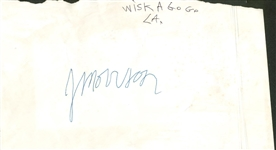 "The Doors: Jim Morrison Signed 4"" x 6"" Whisky A Go-Go 1966 Album Page (REAL/Epperson)"