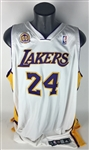 Kobe Bryant Game Used/Worn & Signed 2007/08 Los Angeles Lakers Jersey (DC Sports & LA Lakers)