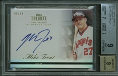 Mike Trout Signed 2012 Topps Tribute Rookie Card BGS Graded 9!