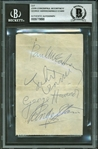"The Beatles Group Signed 3"" x 5"" Clean Album Page w/ Near Mint Signatures! (Beckett/BAS Encapsulated)"