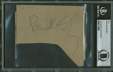 "The Beatles: Paul McCartney Vintage Signed 3"" x 3"" Album Page w/ ""Love"" Inscription! (Beckett/BAS Encapsulated)"