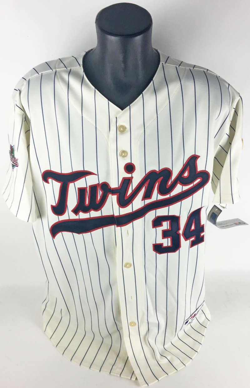0e9c4574c26 ... Kirby Puckett Signed Minnesota Twins Official 1987 World Series Jersey  (JSA)