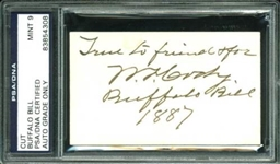 "William F. ""Buffalo Bill"" Cody Choice Signed & Inscribed Calling Card - PSA/DNA Graded MINT 9!"