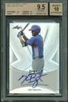 Kris Bryant Signed 2013 Leaf Metal Draft #KB1 Baseball Card Beckett Graded 9.5 w/ 10 Auto!