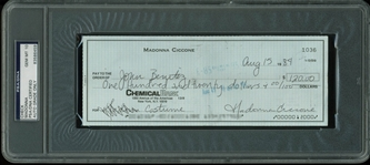 Madonna Ultra-Rare Handwritten & Signed Bank Check from 1984 - PSA/DNA Graded GEM MINT 10!
