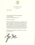 President George W. Bush ULTRA-RARE Signed 2001 White House Letter w/ Red Cross Content! (Beckett/BAS)