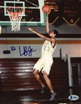 "LeBron James ULTRA-RARE Pre-Rookie Signed 8"" x 10"" Color Photograph Beckett/BAS Graded GEM MINT 10!"