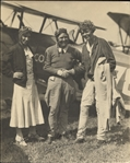 "Female Aviation Pioneers: Amelia Earhart, Poncho Barnes & Debie Stanford RARE Signed 8"" x 10"" Photo (PSA/DNA)"