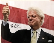 "President Bill Clinton In-Person Signed 11"" x 14"" Color Photo - Beckett/BAS Graded GEM MINT 10!"