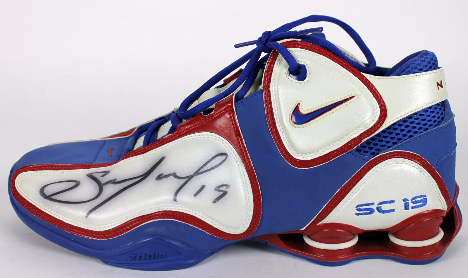 info for 71d18 9471d ... Sam Cassell Game Used   Signed Nike Shox Bounce Basketball Sneakers  (BAS Beckett)