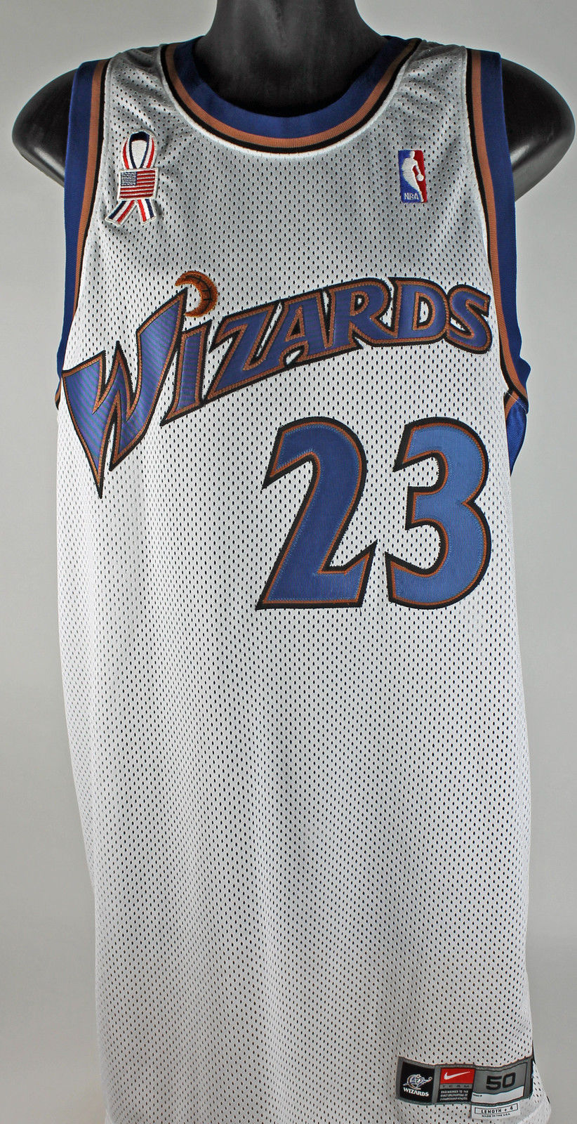 775f8cc6889 Michael Jordan 2001-02 Game Used Washington Wizards Jersey w  9 11  Commemorative ...