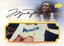 2011-12 Jordan Master Collection Michael Jordan & Muhammad Ali Dual Autograph 1/1 Card