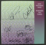 "Dave Matthews Band Signed ""Remember 2 Things"" Album w/ Rare 7 Sigs! (PSA/DNA)"