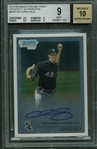 Chris Sale Signed 2010 Bowman Chrome Draft Prospect Autographs Rookie Card BGS 9 w/ 10 Auto!