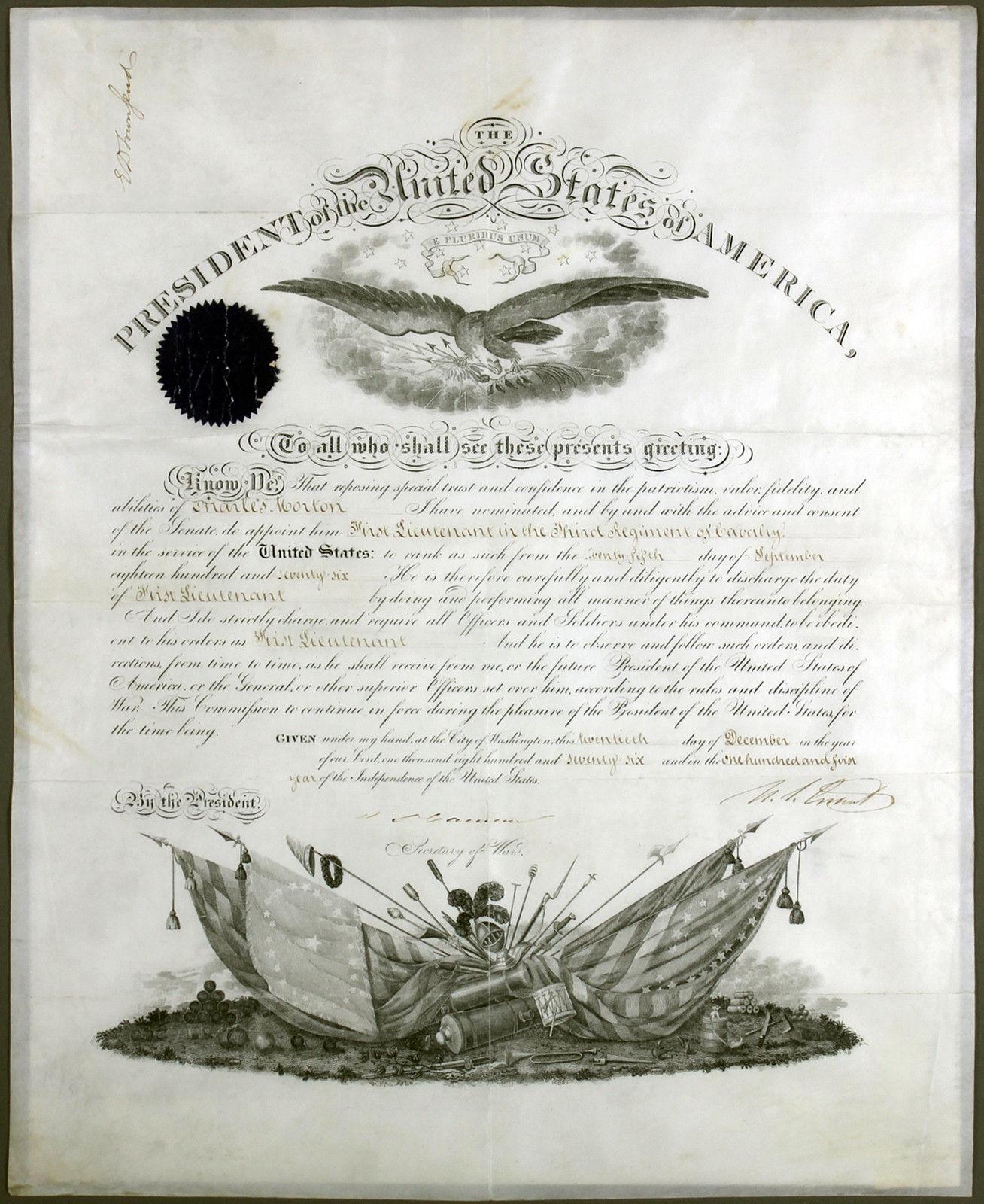 Ulysses S Grant Promotion Letter