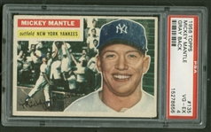 1956 Topps Mickey Mantle #135 Gray Back PSA VG-EX 4