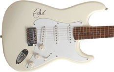 Eric Clapton Signed Cream Colored Stratocaster Guitar w/ Rare On The Body Autograph! (JSA)