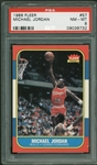 1986-87 Fleer Michael Jordan Rookie Card #57 - PSA Graded NM-MT 8!
