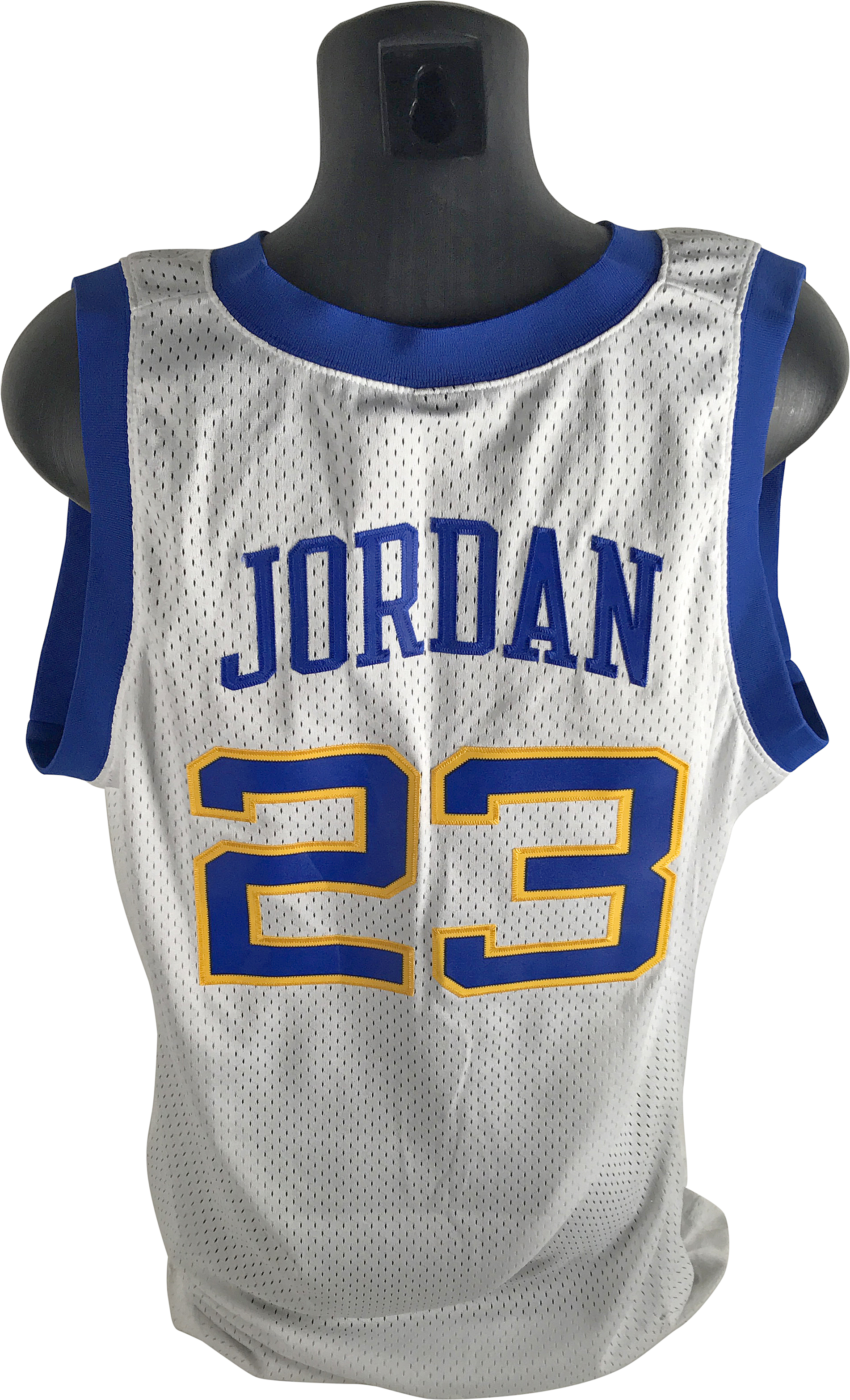 5bc0a4607fa3 ... Michael Jordan Rare Limited Edition Signed 1980 Style Laney High School  Jersey (Upper Deck)