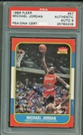 Michael Jordan Signed 1986 Fleer Rookie Card PSA/DNA Graded MINT 9!