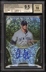 Incredible 2013 Bowman Prospect Autographs Aaron Judge Signed Canary Diamond Refractor BGS 9.5 Auto 10!