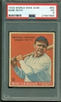 1933 World Wide Gum Canadian Goudey Babe Ruth #93 Card (PSA Graded VG 3)
