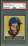 1948 Leaf Jackie Robinson Rookie Card #79 - PSA Graded EX 5