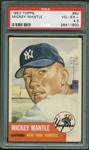 1953 Topps Mickey Mantle #82 Card (PSA Graded VG-EX+ 4.5)