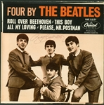 "George Harrison Signed ""Four by The Beatles"" 45 Album (BAS/Beckett Guaranteed)"