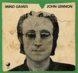 "John Lennon Signed ""Mind Games"" EP 45 Album Cover (Beckett/BAS Guaranteed)"
