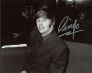 "Ringo Starr Signed 8"" x 10"" Black & White Photograph w/ Sketch (BAS/Beckett Guaranteed)"