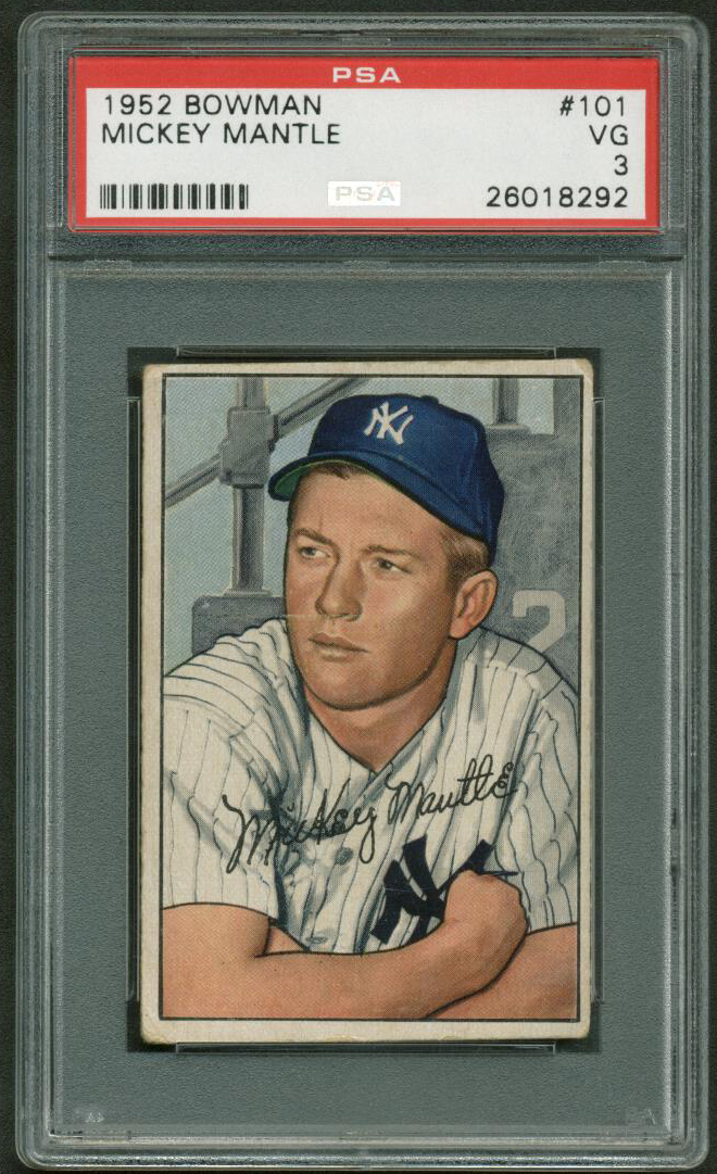 Lot Detail Mickey Mantle Original 1952 Bowman 101 Baseball Card