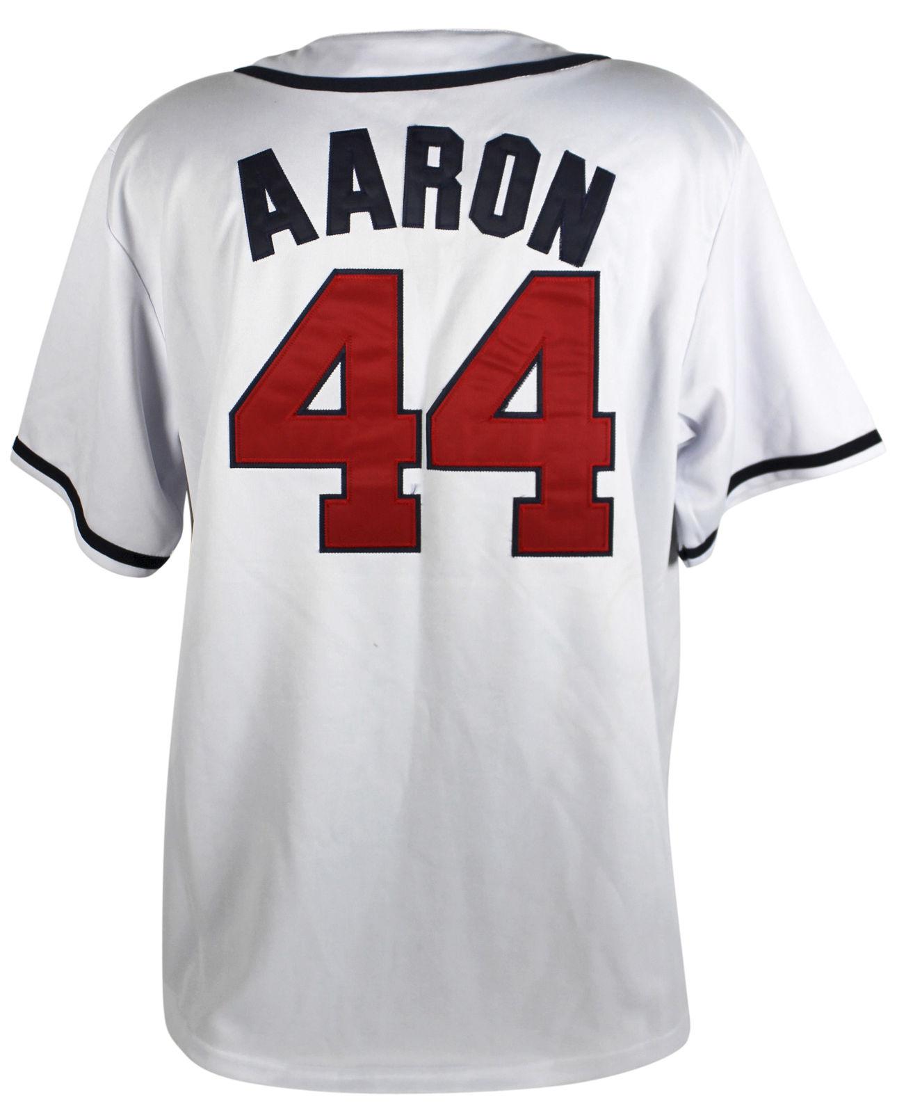 3232460d4 Lot Detail - Hank Aaron Signed Mitchell & Ness Atlanta Braves Jersey ...