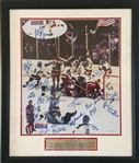 "Miracle On Ice 1980 US Mens Hockey Team Signed 16"" x 20"" Color Photo w/ 22 Sigs Including Herb Brooks! Beckett Graded GEM MINT 10!"