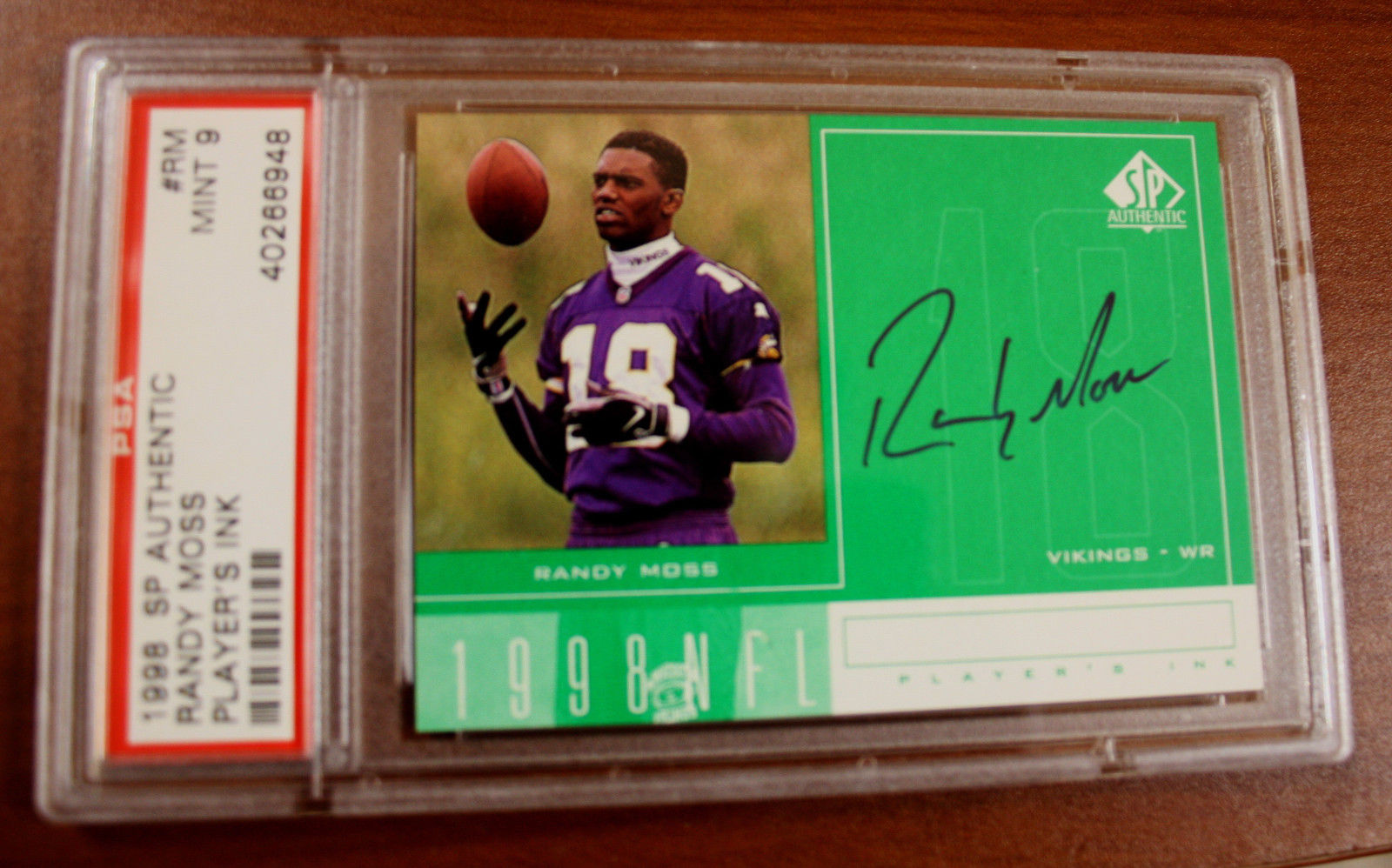 Lot Detail Randy Moss Signed 1998 Sp Authentic Rookie Card