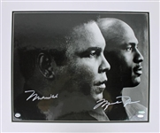 "Muhammad Ali & Michael Jordan Superbly Signed & Matted 16"" x 20"" LE Photograph (Upper Deck & Steiner)"
