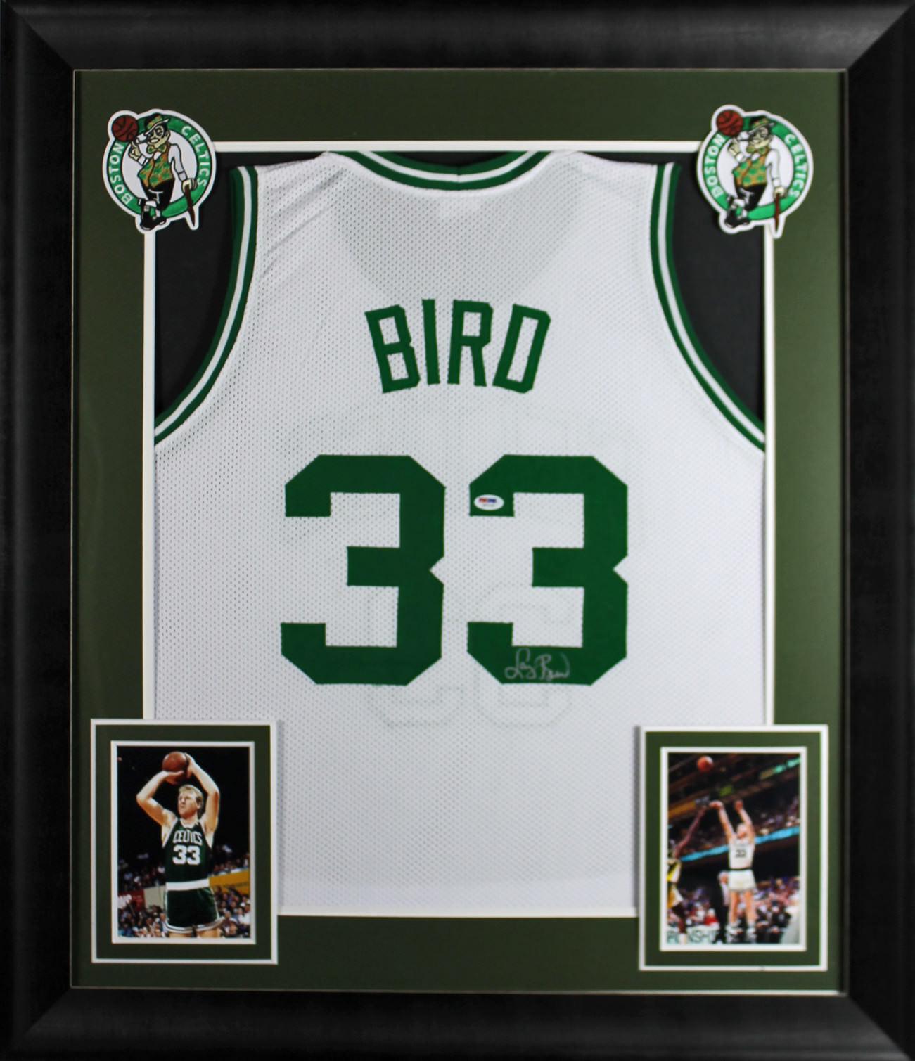 Lot Detail - Larry Bird Signed Celtics Jersey in Custom Framed ...