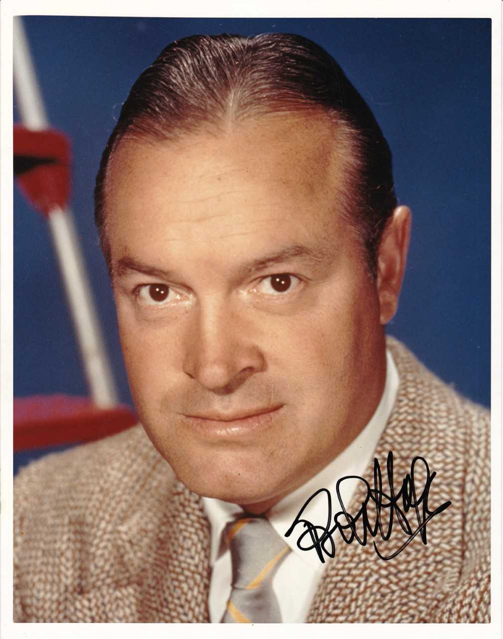 Bob Hope In-Person Signed 8 x 10 Color Photo (BAS/Beckett Guaranteed