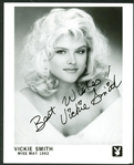 "Anna Nicole Smith EARLY c. 1992 Signed 8"" x 10"" Playboy Photograph w/ Vickie Smith Autograph! (Beckett/BAS Guaranteed)"