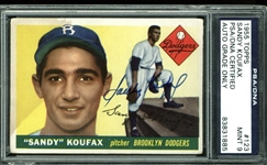 1955 Topps Sandy Koufax Signed Rookie Card (PSA/DNA Graded MINT 9!)
