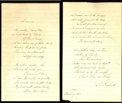 "Samuel Francis Smith Handwritten & Signed Lyrics for ""America (My Country Tis of Thee)"" (BAS/Beckett)"