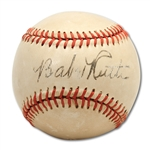 Babe Ruth Stunning Signed American League Baseball (PSA/DNA)