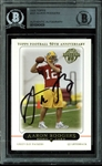 Aaron Rodgers Signed 2005 Topps #431 Rookie Card (BAS/Beckett Encapsulated)