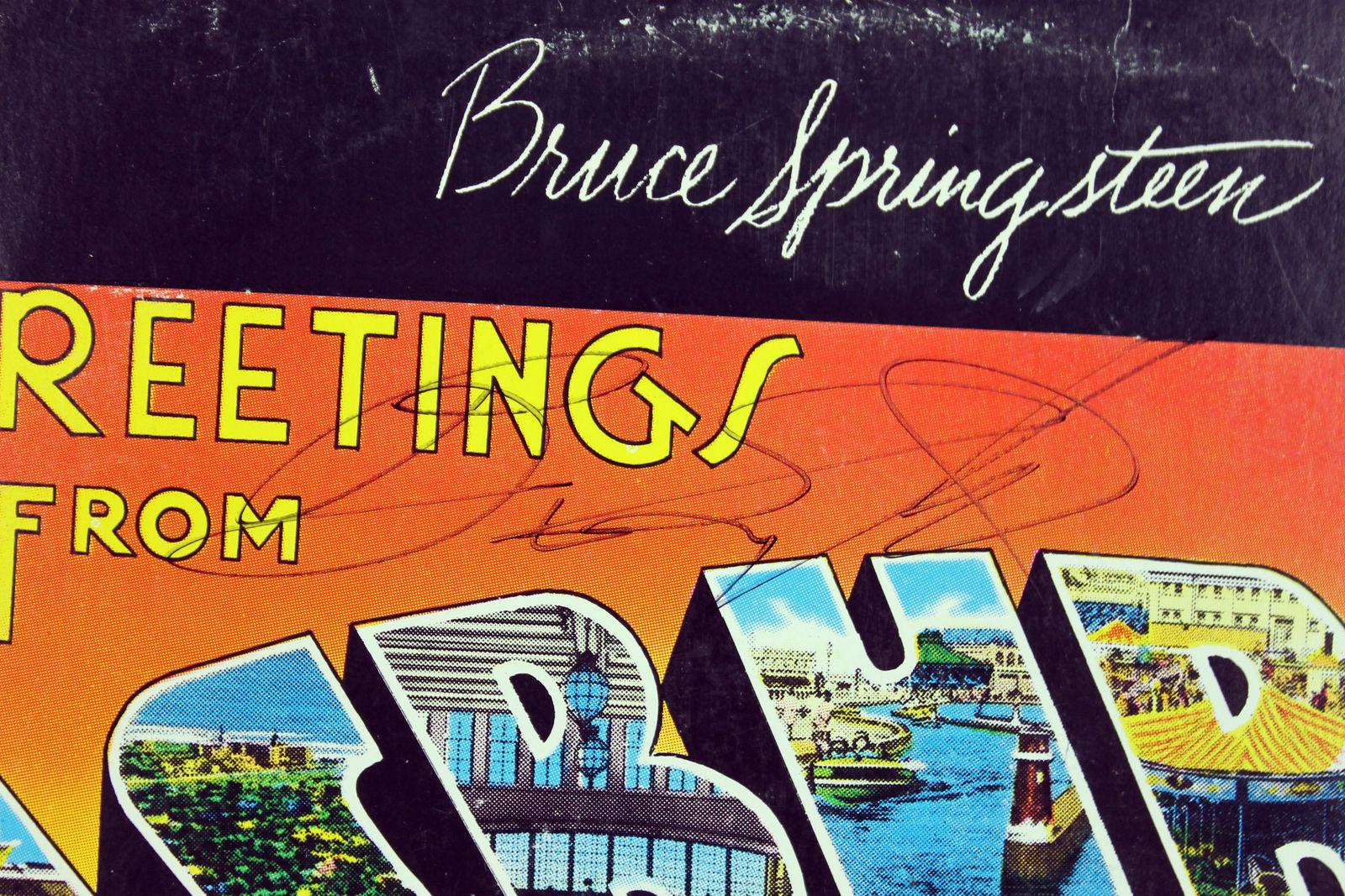 Lot detail bruce springsteen signed debut greetings from asbury bruce springsteen signed debut greetings from asbury park album basbeckett m4hsunfo
