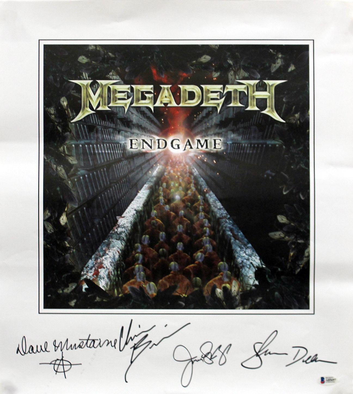 Lot Detail Megadeth Group Signed Endgame 17 X 19 Poster Bas