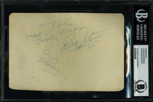 The Beatles Vintage Group Signed Album Page (BAS/Beckett Encapsulated)