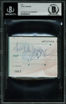 "Tupac Shakur Signed & Inscribed 2.75"" x 3.25"" Cut (BAS/Beckett Encapsulated)"