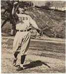 "Grover Clevland Alexander ULTRA-RARE Signed 6"" x 7"" Glossy Chicago Cubs Photograph (JSA)"